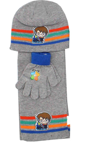 Official Boys Harry Potter Hat Gloves and Beanie Hat Set One size 4-8 Years