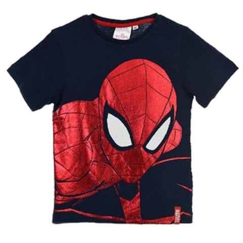 Marvel Spiderman Boys Short Sleeve T-Shirt Age 2-8 Years