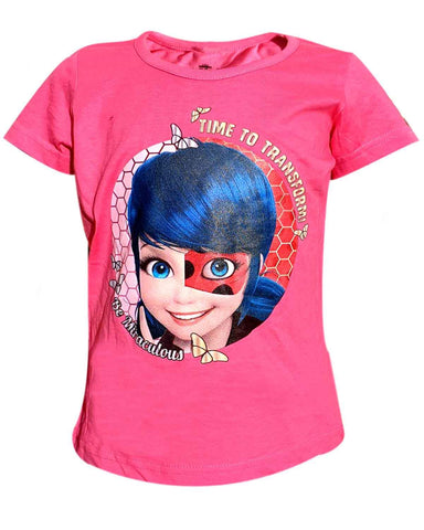 Girls Official Licensed Miraculous Ladybug Tshirt Age 6-12 Years - Character Direct