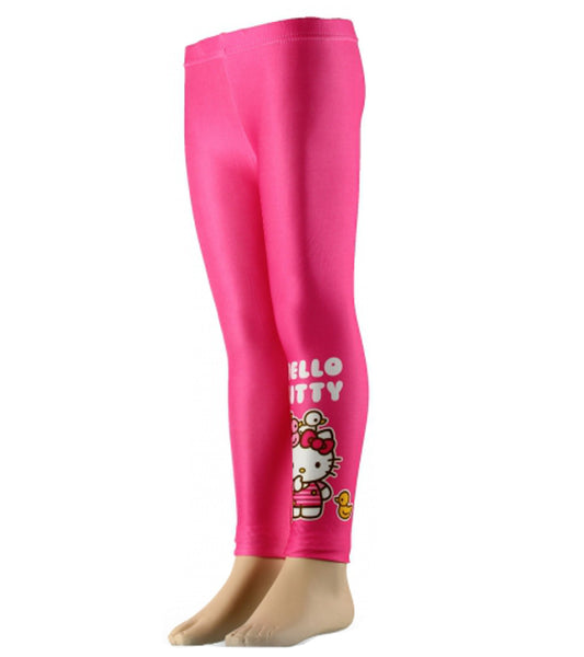 Sanrio Hello Kitty Girls Pink Stripe Legging Tights - Character Direct