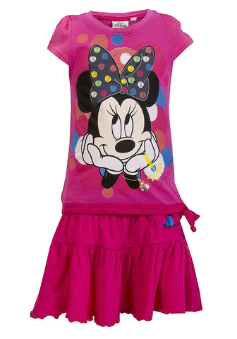 Disney Minnie Mouse Girls Top and Skirt Set Age 3 to 8 Years - Character Direct