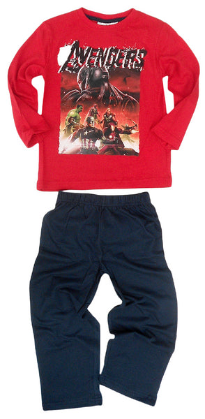 Marvel Avengers Boys Long Length Pyjama 4,6,8,10 Years - Character Direct