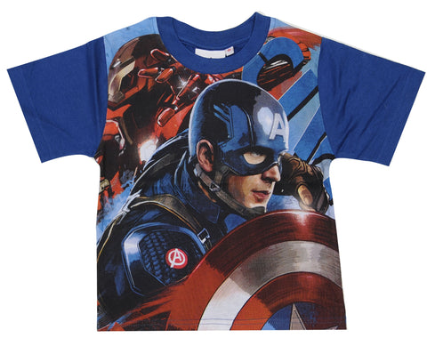 Marvel Boys Avengers Blue Top Age 3 to 10 Years