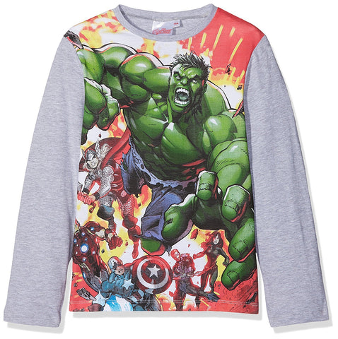 Avengers Capt America Ironman Hulk Boys Tshirt Top Age 3 to 10 Years - Character Direct