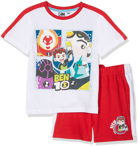 Boys Official Licensed Ben 10 Tshirt and Short Set Age 2 to 8 Years - Character Direct
