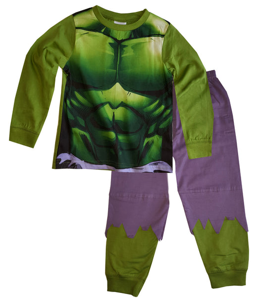 Boys Avengers The Hulk Novelty Pyjamas Pj Age 2-8 Years - Character Direct
