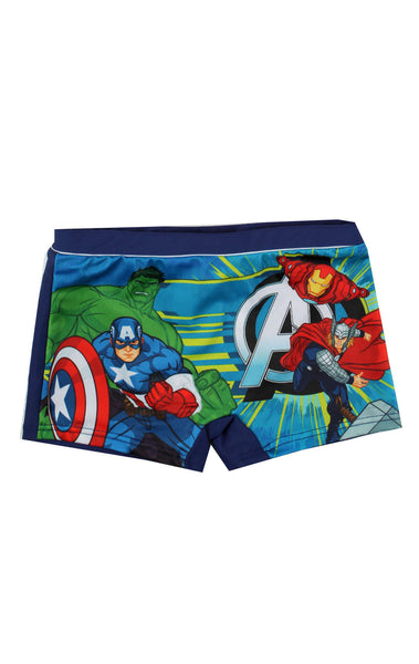 Boys Official Avengers Swimwear Swimming Shorts Age 3 to 8 Years - Character Direct