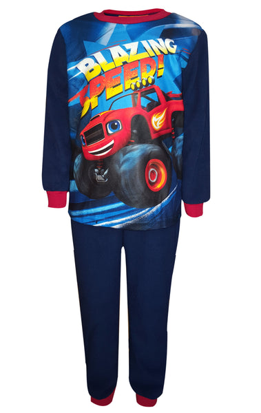 Boys Blaze and the Monster Machine Printed Fleece Polar Long Length Pyjamas 2 to 6 Years - Character Direct