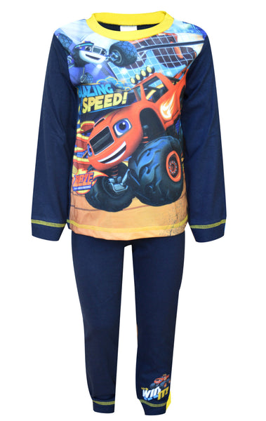 Boys Blaze and the Monsters Machines Snug Fit Pyjamas Age 1.5 to 5 Years - Character Direct