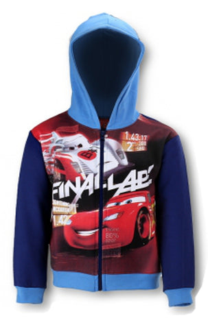 Disney Boys Cars Zipped Hooded Top Sweaters Jacket Hoodie Age 3 to 8 Years - Character Direct