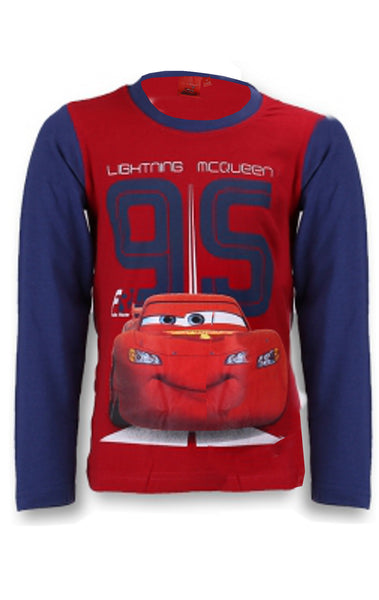 Disney Pixar Cars Boys Long Sleeve T-Shirt Top Age 3 to 8 Years - Character Direct