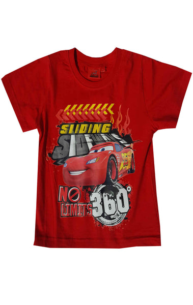 Disney Pixar Cars Boys Short Sleeve T-Shirt Top Age 3 to 8 Years - CharacterDirect