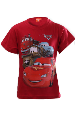 Disney Pixar Cars Boys Short Sleeve T-Shirt Age 3 to 8 Years - CharacterDirect