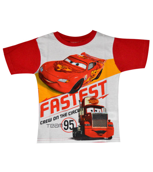 Disney Pixar Cars Boys Short Sleeve T-Shirt Age 3-8 Years - Character Direct