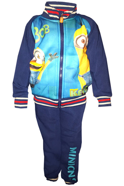 Despicable Me Boys Minions Fleece Lined Tracksuit Trackpant Age 4 to 12 Years - Character Direct