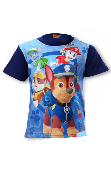 Boys Nickelodeon Paw Patrol Top T-Shirt Age 2,3,4,5,6,7,8 Years - Character Direct