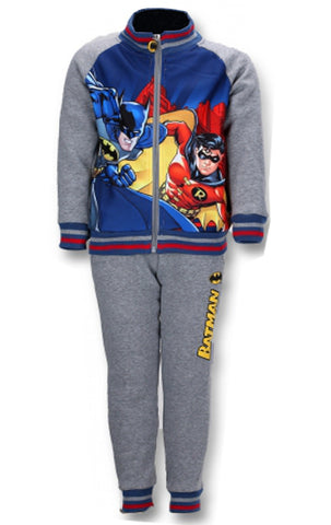 Official Licenced Boys Batman Printed Fleece Lined Tracksuit Trackpant Age 4 to 12 Years - Character Direct