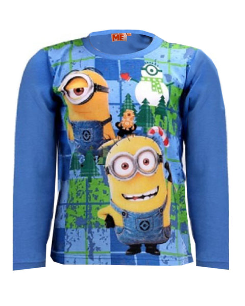 Official Despicable Me Boys Minions Long Sleeve Top Age 4-10 Years - Character Direct