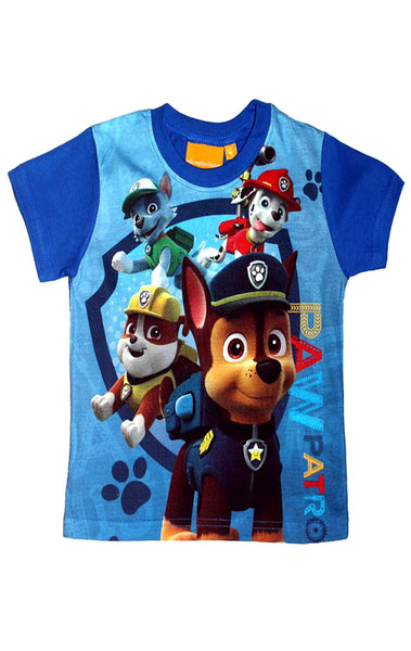 Boys Official Paw Patrol Tshirt Top Age 3 to 8 Years - Character Direct