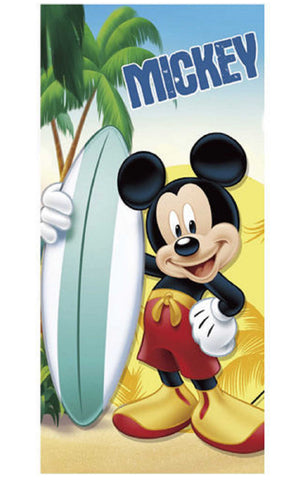 Kids Boys Mickey Mouse Beach Towel - Character Direct
