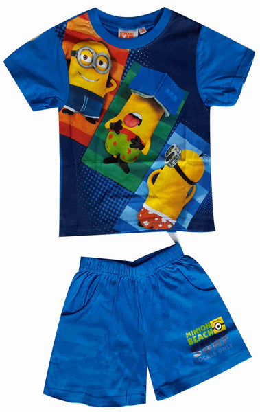 Despicable Me Boys Minions Short Pyjamas 3-8 Years in Blue - Character Direct