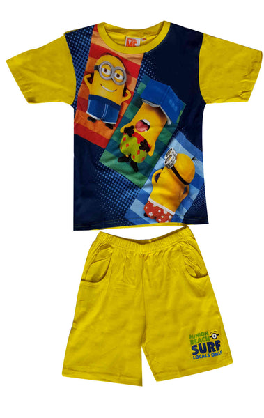 Despicable Me Boys Minions Short Pyjamas 3-8 Years in Yellow - Character Direct