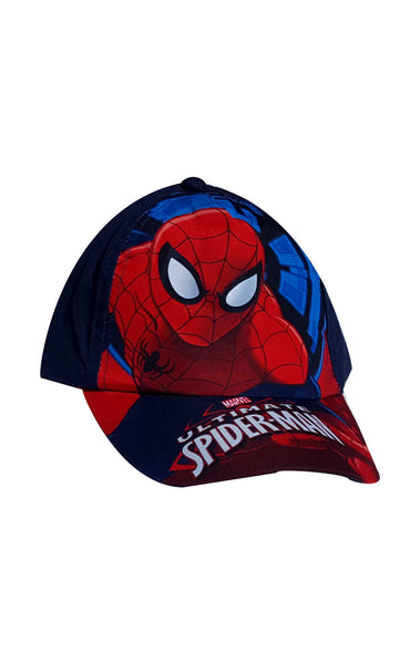 Boys Official Spiderman Print Baseball Hat Cap Age 2 to 8 Years - Character Direct