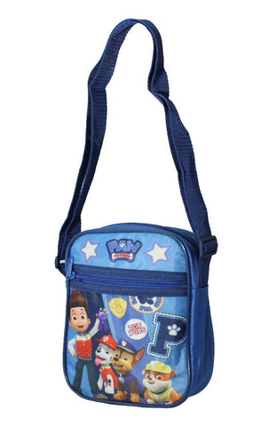 Kids Boys Girls Paw Patrol Shoulder Bag Satchel in Blue - CharacterDirect