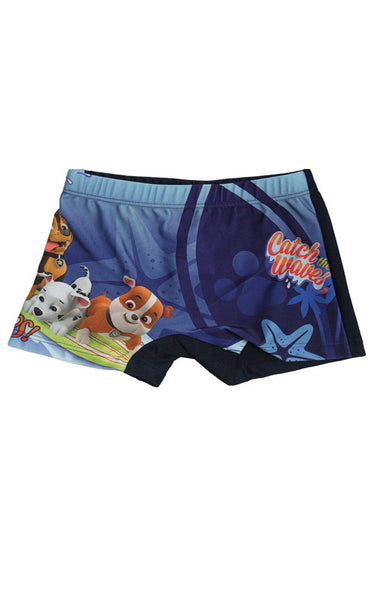 Boys Official Paw Patrol Catch the Waves Swimwear Swimming Shorts Age 3 to 8 Years - Character Direct