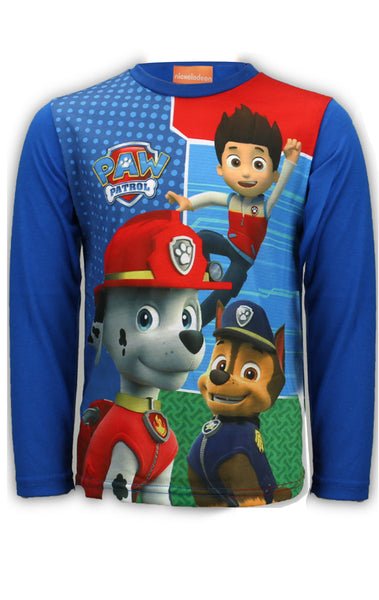Boys Ryder Chase Marshall Print Long Sleeve Top 4 to 12 Years - Character Direct