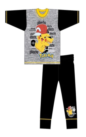 Boys Pokemon Ash Pikachu Gotta Catch them All Pyjamas Age 4 to 12 Years - Character Direct