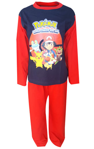 Boys Pokemon Ash Pikachu Gotta Catch them All Pyjamas Age 4 to 10 Years - Character Direct