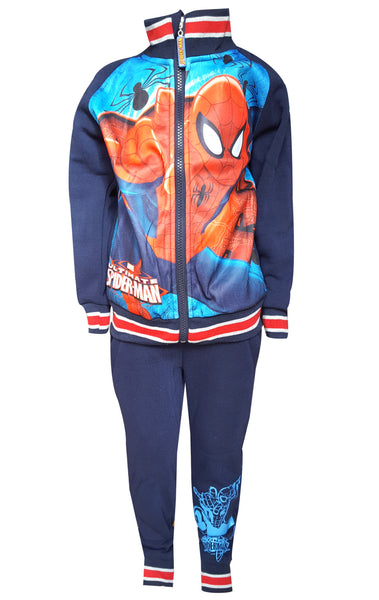 Official Licenced Spiderman Printed Fleece Lined Tracksuit Trackpant Age 2 to 8 Years - Character Direct