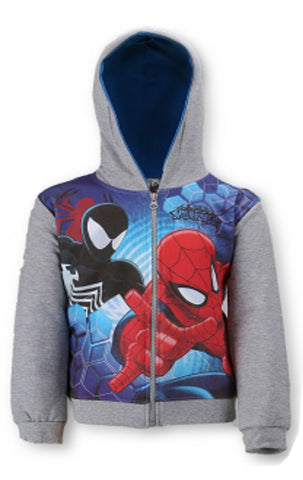 Boys Spiderman Hooded Zipped Hooded Top Sweaters Jacket Hoodie Age 3 to 8 Years - Character Direct