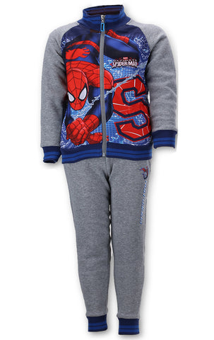 Official Licenced Boys Spiderman Printed Fleece Lined Tracksuit Trackpant Age 2 to 8 Years - CharacterDirect