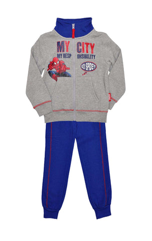 Marvel Boys Spiderman Fleece Lined Tracksuit Trackpant Age 3 Years - Character Direct