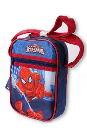 Kids Boys Girls Spiderman Shoulder Bag Satchel in Red - CharacterDirect