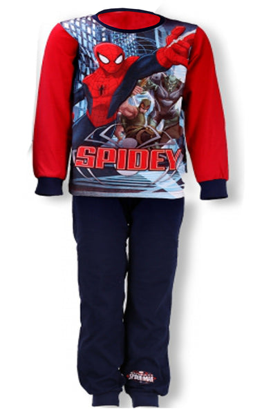 Marvel Spiderman Boys Full Sleeve Cotton Pyjama 3-8 Years - Character Direct