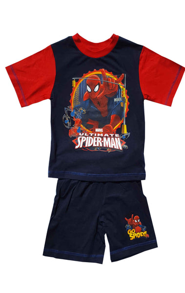 Boys Official Spiderman Short Pyjamas Age 3 to 10 Years - Character Direct