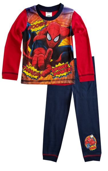 Marvel Spiderman Boys Long Length Pyjama 1 to 8 Years - Character Direct