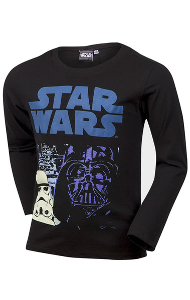 Starwars Boys Printed T-Shirt Top Age 3 to 14 Years - Character Direct
