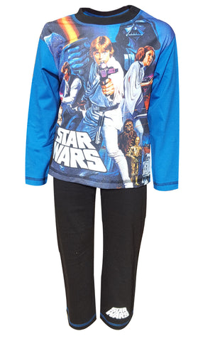 Boys Star Wars Darth Vader Long Length Pyjamas Age 4 to 10 Years - Character Direct