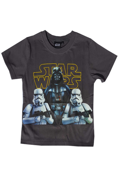 Starwars Boys Printed T-Shirt Top Age 6 to 12 Years - Character Direct