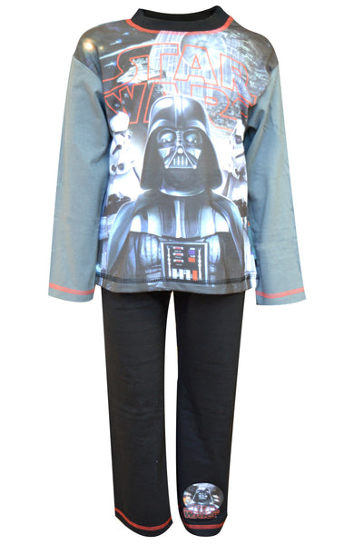 Boys Star Wars Long Length Sublimation Print Pyjamas Age 4 to 10 Years - Character Direct