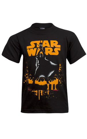 Star wars Boys Printed T-Shirt Top Age 7 to 14 Years - Character Direct