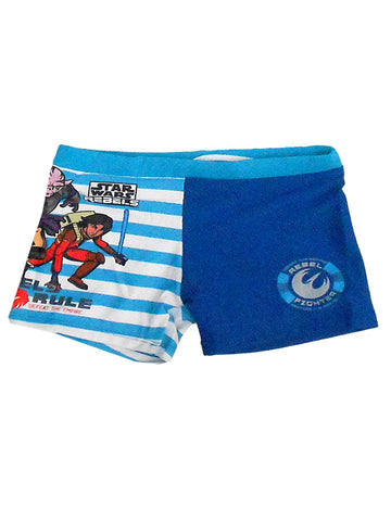 Boys Official Star Wars Swimwear Swimming Shorts Age 2 to 8 Years - Character Direct