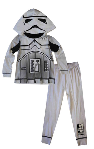 Boys licensed Official Star Wars Storm Trooper Novelty Pyjamas With Detachable hood  2 to 8 Years - Character Direct