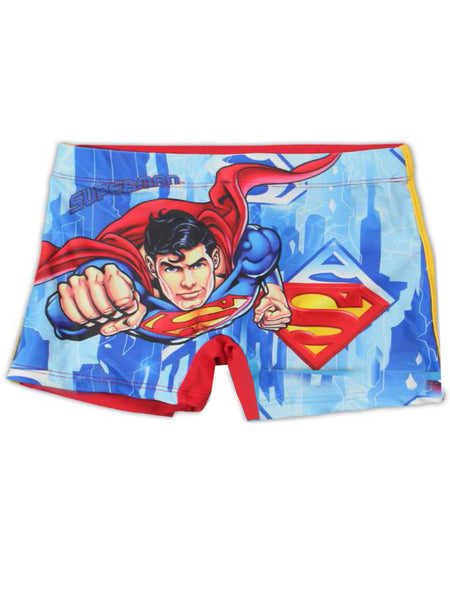 Boys Official Superman Swimwear Swimming Shorts Age 3 to 8 Years - Character Direct