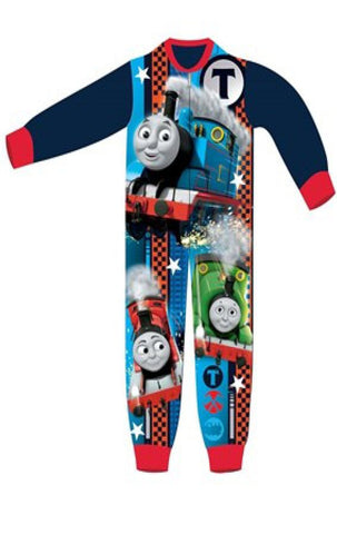 Boys Licensed Thomas the tank engine Micro Fleece Onesies Age 2 to 6 Years - Character Direct
