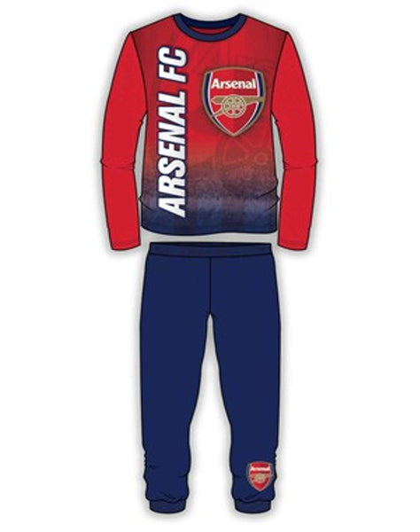 Boys Arsenal FC Long Length Snug Fit Football Pyjama Age 4 to 12 Years - Character Direct